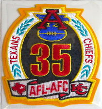 KANSAS CITY CHIEFS ~ 35th ANNIVERSARY NFL PATCH STAT CARD Willabee & Ward ~ 1994