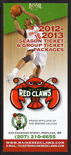 2012-13 Maine Red Claws Ticket Brochure