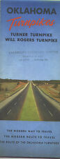 1960 Oklahoma Turnpikes Vintage Road Map and Guide