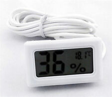 White New Hygrometer Humidity Meter Thermometer Sensor for Incubator Egg Poultry