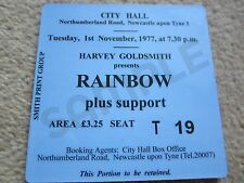 Rainbow/Ritchie Blackmore Concert Coasters Ticket November 1977 High quality