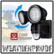 Movimento da 20W con Sensore PIR Outdoor TWIN LED RIFLE Giardino Riflettore securitylight