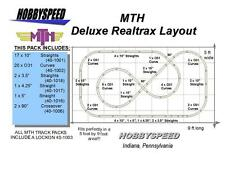 MTH REALTRAX DELUXE TRACK LAYOUT track pack 5' X 9' O GAUGE train layout NEW