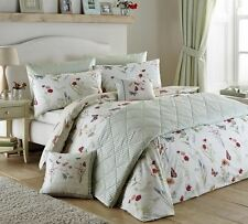 COUNTRY BUTTERFLY KING SIZE REVERSIBLE COTTON BLEND DUVET COVER #ROUJTNUOC *CUR