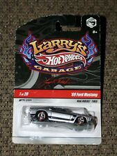 Hot Wheels Larry's Garage '69 Ford Mustang 302 Boss Silver Black on Real Riders