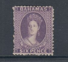 Bahamas Sc 14 MLH. 1863 6p dark violet Queen Victoria, VF for issue