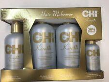 CHI Keratin Shampoo & Conditioner 12oz, Silk Infusion 2oz/ Leave In Condition6oz
