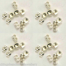 200 Silver Plated Butterfly Ear Stud Backs Earring Findings