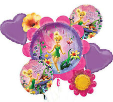 Disney Tinkerbell Birthday Party Favor Supplies 5CT Foil Balloons Bouquet