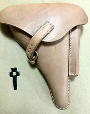 WWII GERMAN LUGER P08 Hardshell LEATHER HOLSTER w. Takedown TOOL