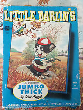 LITTLE DARLIN'S DOG 40 Piece  PUZZLE 1960s Somerville/ Jumbo Thick
