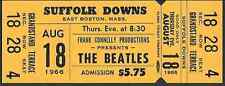 Original Unused Concert Ticket THE BEATLES Boston, Mass - August 1966
