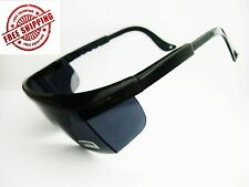 NEU! BLACK WELDER'S WELDING GOGGLES GLASSES,ARC WELDING INDUSTRIAL OR EDU OSHA