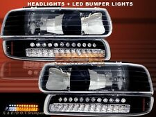 1999-2002 CHEVY SILVERADO 00-06 TAHOE SUBURBAN HEADLIGHTS / LED BUMPER LIGHTS