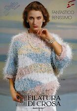 Filatura Di Crosa Knitting Magazine w/ 12 Patterns Fantastico Benissimo