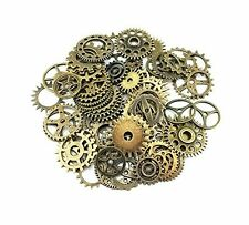 Yueton® 100 Gram Assorted Antique Steampunk Gears Charms Pendant Clock Watch for