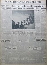 10-1945 October 8 JAPANESE LIBERALS TAINTED BY IMPERIALISM  Birthday Newspaper