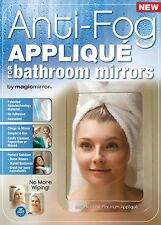 Magic Mirror™ Platinum Anti-Fog SHIELD For Bathroom Mirrors - Bulk Pack 5 Units