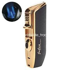 Jobon Triple Flame Cigar Lighter Butane Gas Cigarette Torch Lighter Cigar Punch