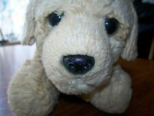 Small Puppy Polyster Plush with Brown Eyes and Black Nose Realistic Looking