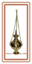 "6"" INCHS Big Hanging Brass Censer Incense Charcoal Cone Resin Burner FREE SHIP !"