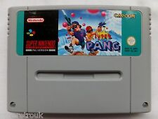 SUPER PANG GAME OFFICIAL SUPER NINTENDO SNES CARTRIDGE ONLY UK PAL - CLEANED