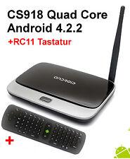 CS918 KR42 +RC11 Quad Core Smart TV Box Mini PC RK3188 1.6 GHz 8 GB 2GB MK888