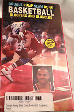 Double Pump Slam Dunk Basketball Bloopers Blunders VHS Tape Video 2-Pck 1993-New