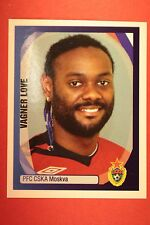 PANINI CHAMPIONS LEAGUE 2007/08 N. 158 VAGNER LOVE CSKA WITH BLACK BACK MINT!!