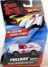 Hot Wheels Speed Racer PULLBAX MACH 5  NEW Mattel pullback & release to race!