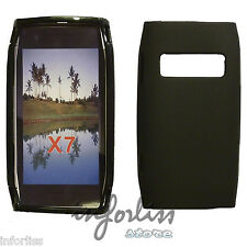 Carcasa Funda gel Nokia X7 negra black case