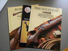 Savage Stevens/Fox Rifle & Ammunition Brochure and 2 Fact Sheets, Model 700&870