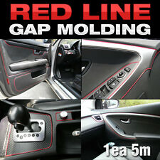 Edge Gap Red Line Interior Point Molding Accessory Garnish 5M for VW Golf Jetta
