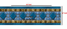 Inground & Aboveground 10 Ft x 8 In Swimming Pool Vinyl Border Repair Patch 503