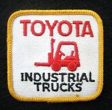 TOYOTA EMBROIDERED SEW ON PATCH INDUSTRIAL TRUCKS LIFT FORKLIFT ADVERTISING