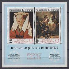 Burundi 1967 ** Bl.23 A Gemälde Paintings Rembrandt Van Eyck  [sq5048]