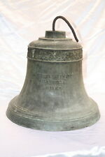 1900 BRONZE BELL GIFT OF MEXICAN PRESIDENT TO HAROLD LLOYD, ESTATE IN BEV.HILLS