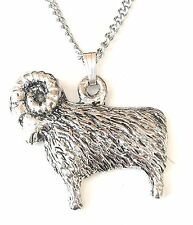 Ram / Sheep Pendant Handcrafted in Solid Pewter In The UK + Free GiftBox