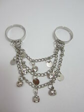 Two Finger Dangle Ring  Adjustable