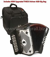 Hohner Panther GCF Button SOL Accordion Acordeon +Bag_Strap_Booklet_DVD_T-Shirt!