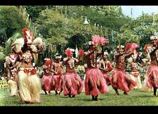TAHITI (POLYNESIE) Groupe HEIVA / DANSEUSE & DANSEUR / FETE du 14 JUILLET en1967