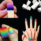 Hot 8pcs Salon Gardient Nail Sponges Acrylic Art Manicure Polish Template DIY