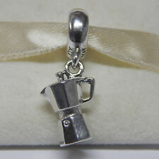 New Authentic Pandora Charm 791514  Coffee Lovers Dangle Bead Box Included