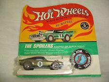 Hot Wheels Redline HK olive MUSTANG BOSS HOSS BLACK ROOF blister BP scarce NM