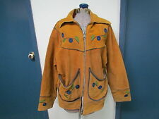 Native American Full Length Leather and Beaded Jacket