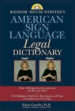 Random House Webster's American Sign Language Legal Dictionary, Costello, Elaine