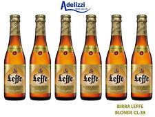 BIRRA LEFFE BLONDE CL.33 BELGA D'ABBAZIA DOPPIO MALTO CHIARA 6 BOTTIGLIE