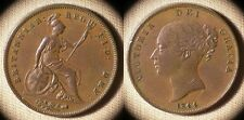 Great Britain : 18441 P Xf+ Past Cleaning, Few Dings # 739  00006000 Ir1865