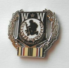 WOUNDED WARRIOR HEROISM HONOR SACRIFICE DESERT STORM WREATH LAPEL PIN 1 INCH