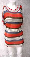TOI AT MOI  WOMEN TOP/DRESS BATWING DOLMAN SLEEVE MULTI COLOR VISCOSE M/L